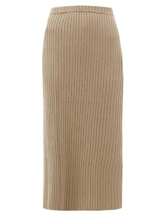 Casual Style Cashmere Plain Skirts