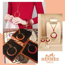HERMES Casual Style Unisex Silver 18K Gold Office Style 14K Gold