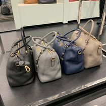 PRADA 2WAY Plain Leather Crossbody Shoulder Bags