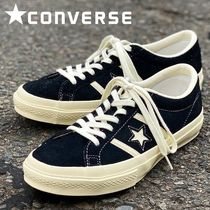 CONVERSE ONE STAR Rubber Sole Lace-up Casual Style Unisex Suede Plain