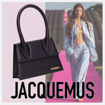 JACQUEMUS Casual Style 2WAY Plain Leather Party Style Elegant Style