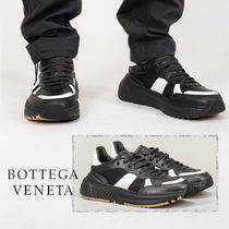 BOTTEGA VENETA Blended Fabrics Plain Leather Sneakers