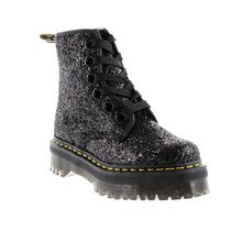 Dr Martens MOLLY Round Toe Rubber Sole Casual Style Faux Fur Blended Fabrics