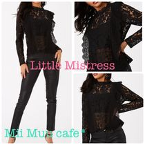 Little Mistress Flower Patterns Casual Style Long Sleeves Party Style Lace