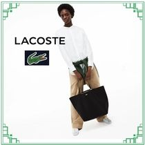 LACOSTE Casual Style Collaboration A4 Plain PVC Clothing Totes