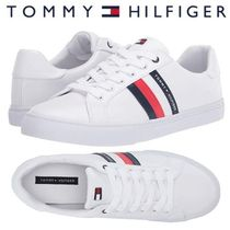 Tommy Hilfiger Stripes Round Toe Lace-up Casual Style Faux Fur Street Style