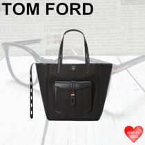 TOM FORD Casual Style Blended Fabrics Street Style A4 2WAY Leather