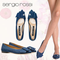 Sergio Rossi Casual Style Plain Office Style Pointed Toe Shoes