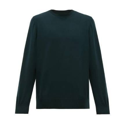 Unisex Wool Long Sleeves Plain Sweaters