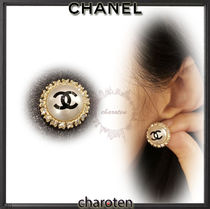 CHANEL ICON Costume Jewelry Casual Style Blended Fabrics Party Style