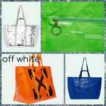 Off-White Casual Style Unisex 2WAY Totes