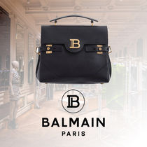BALMAIN Casual Style Calfskin 2WAY Plain Party Style Fringes