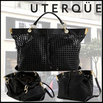 Uterque Casual Style Bag in Bag A4 2WAY Leather Office Style