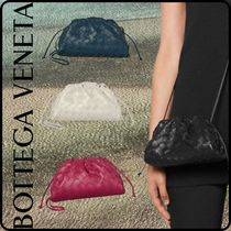BOTTEGA VENETA THE POUCH Casual Style 2WAY Plain Leather Party Style Office Style