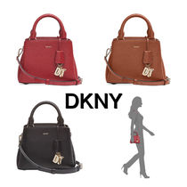DKNY 2WAY Plain Leather Satchels