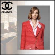 CHANEL Cotton Party Style Office Style Elegant Style