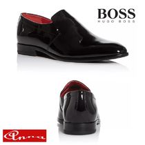 Hugo Boss Plain Toe Moccasin Loafers Plain Leather Loafers & Slip-ons