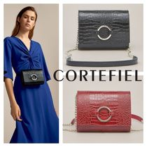 CORTEFIEL 2WAY Chain Leather Elegant Style Hip Packs