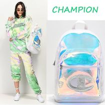 CHAMPION Casual Style A4 Plain Backpacks