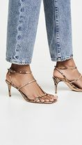SCHUTZ Leather Python Heeled Sandals