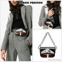 Heron Preston Casual Style Blended Fabrics Street Style 2WAY Chain Leather