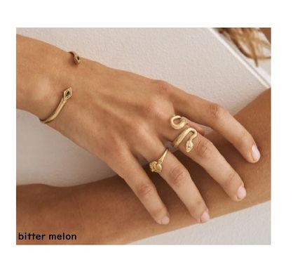 Casual Style Unisex Animal Handmade Silver 18K Gold