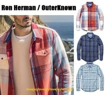 Ron Herman Other Plaid Patterns Street Style Plain Cotton Front Button