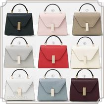 Valextra Iside Casual Style Calfskin 2WAY Plain Elegant Style Shoulder Bags