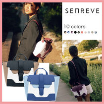 senreve Casual Style 3WAY Bi-color Plain Leather Party Style