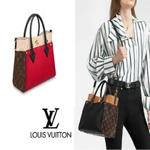 Louis Vuitton MONOGRAM Monogram Canvas 2WAY Leather Party Style Office Style
