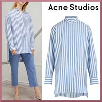 Acne Stripes Long Sleeves Cotton Medium Shirts & Blouses