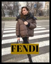 FENDI Unisex Nylon Blended Fabrics Medium Down Jackets