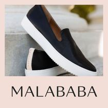 Malababa Casual Style Leather Low-Top Sneakers