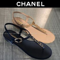 CHANEL Casual Style Suede Chain Plain Elegant Style Logo