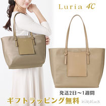 4℃ Nylon A4 Plain With Jewels Office Style Elegant Style Totes