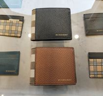 Burberry Other Check Patterns Leather Card Holders