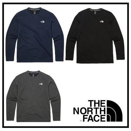 THE NORTH FACE Long Sleeve Long Sleeves Plain Long Sleeve T-shirt Logo Outdoor