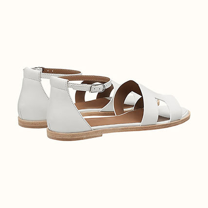 HERMES More Sandals Leather Sandals Sandal 4