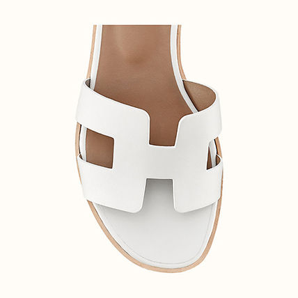 HERMES More Sandals Leather Sandals Sandal 5