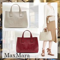MaxMara Casual Style Calfskin 2WAY Plain Office Style Elegant Style