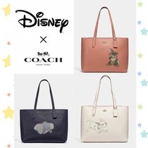 Disney Casual Style Faux Fur Leather Party Style Office Style Totes