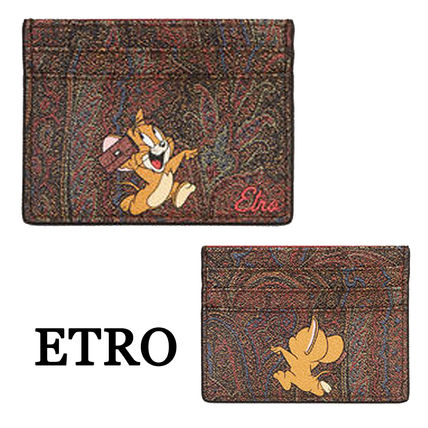 Paisley Calfskin Other Animal Patterns Card Holders