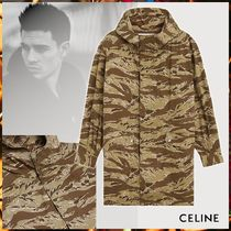 CELINE Camouflage Long Military Jackets