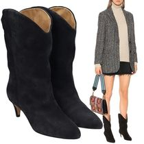 Isabel Marant Casual Style Suede Blended Fabrics Plain Leather