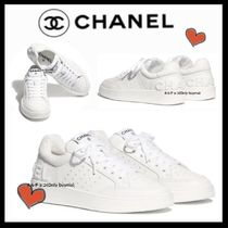 CHANEL SPORTS Plain Leather Sneakers