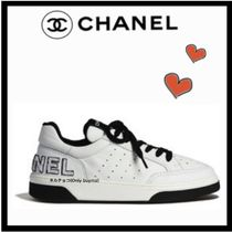 CHANEL SPORTS Casual Style Unisex Blended Fabrics Bi-color Plain Leather