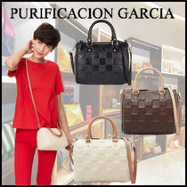 Purificacion Garcia Casual Style 2WAY Leather Party Style Office Style