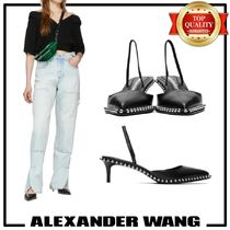 Alexander Wang Studded Leather Pin Heels Elegant Style