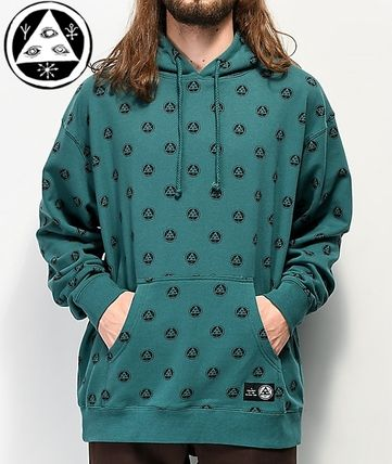 Pullovers Dots Unisex Street Style Long Sleeves Logo