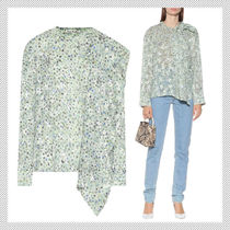 Acne Flower Patterns Casual Style Long Sleeves Office Style